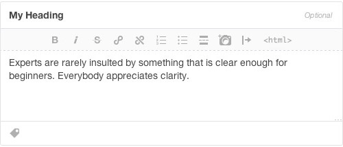 Tumblrではテキストの配列を設定することはできません
