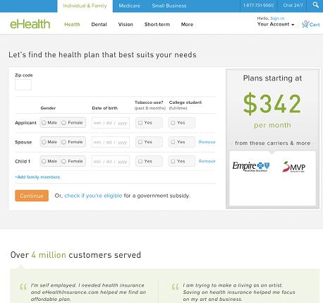 Ehealthは複雑で怖気づくような健康保険の計算を、友だちと対話するような形式で実行することができます。