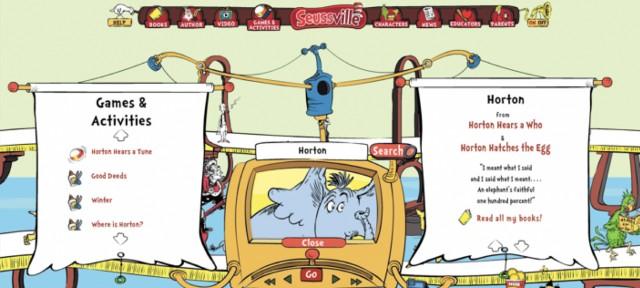 図5.2:Seussvilleは、たとえ子どもたちが他人とやりとりをしていなくても、社交的に感じられるようになっています。