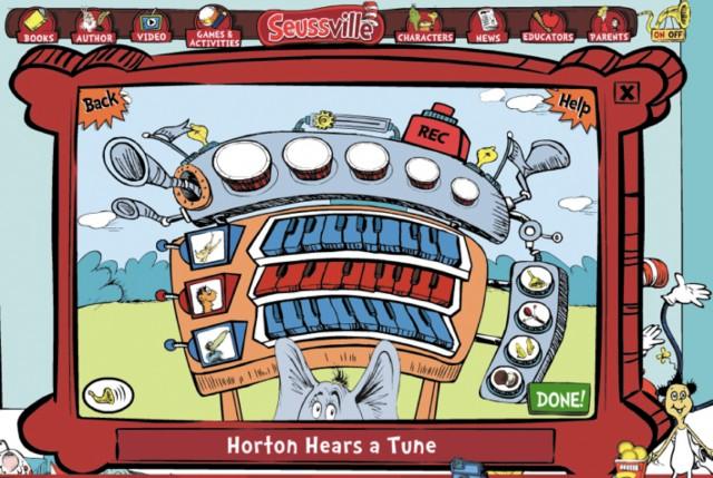 図5.3:「Horton Hears a Tune」は、子どもたちが音楽を作曲し、共有することを可能にします。
