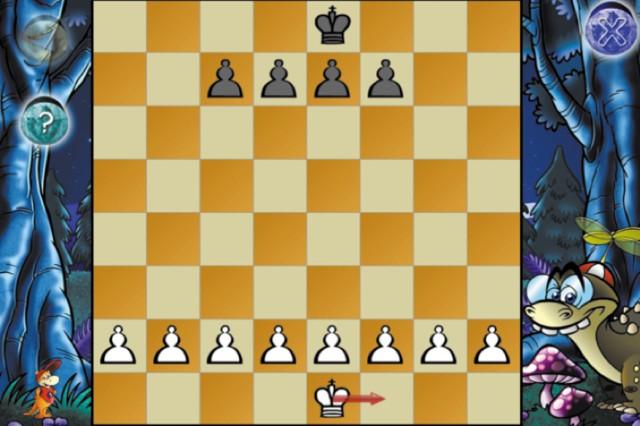 図5.6:Dinosaur Chessはアニメーションとナレーションを使用して、項目ヘルプを提供します。