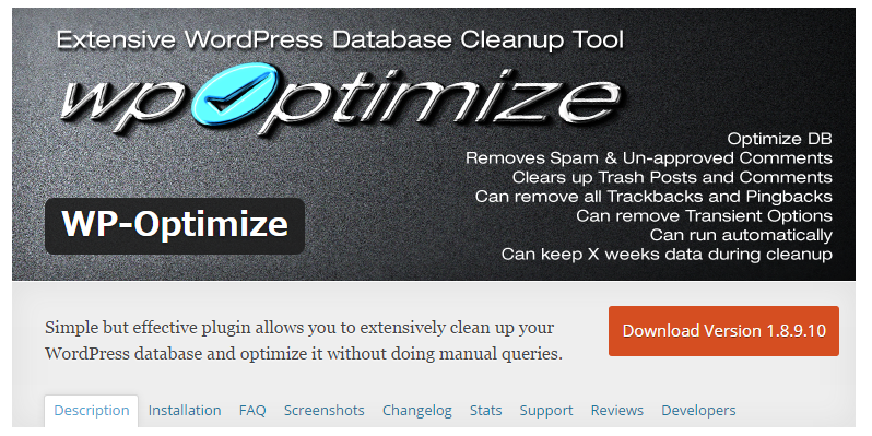 WP Optimize — WordPress Plugins
