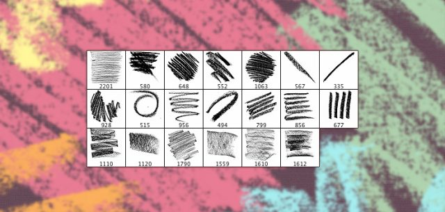 http://www.premiumpixels.com/freebies/20-high-resolution-oil-pastel-brushes/