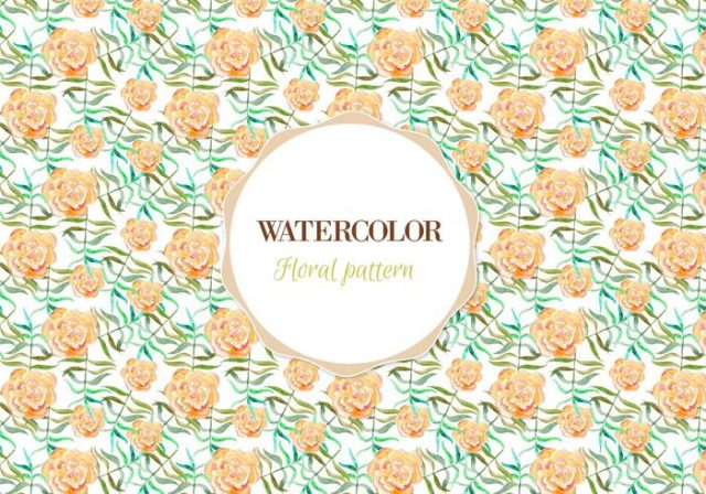 free-vector-watercolor-floral-pattern
