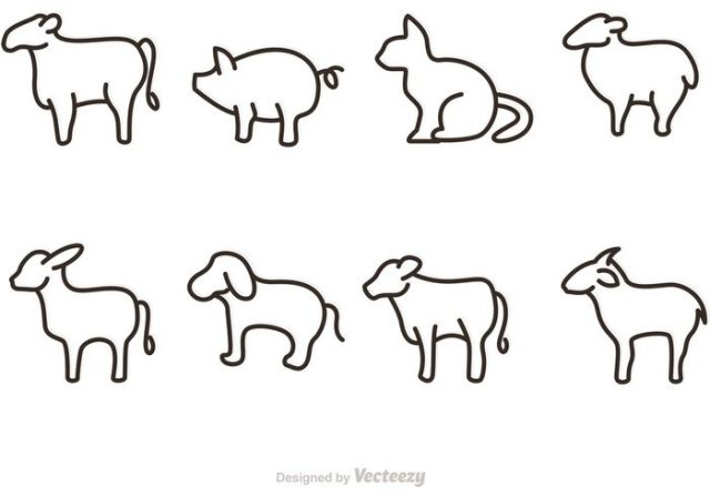 outline-animal-vectors-icons