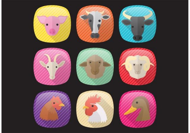 vector-farm-animals-icons