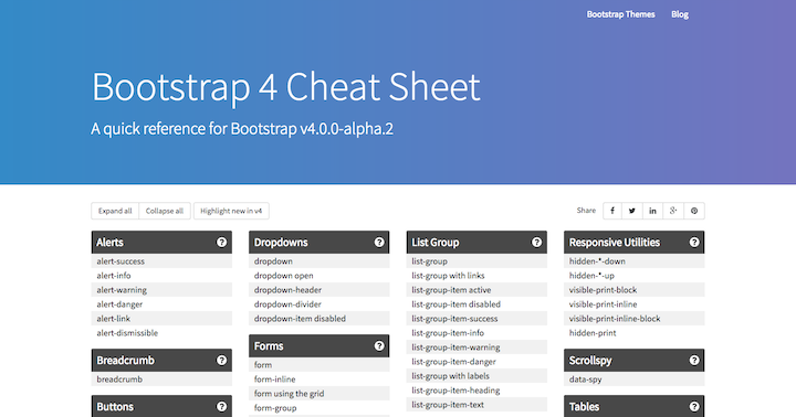 bootstrap-4-cheat-sheet