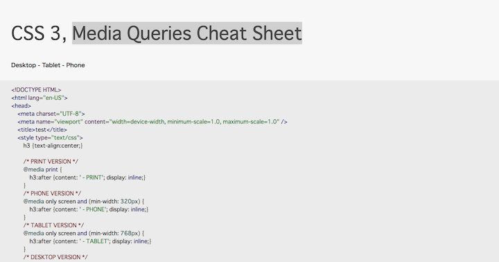 css-3-media-queries-cheat-sheet
