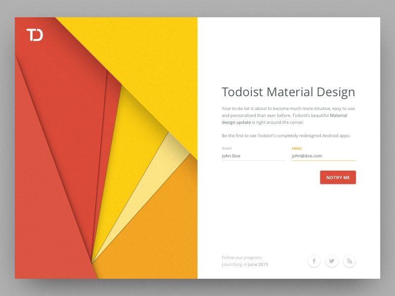 Announcement of Todoist Material By Jordi Tambillo
