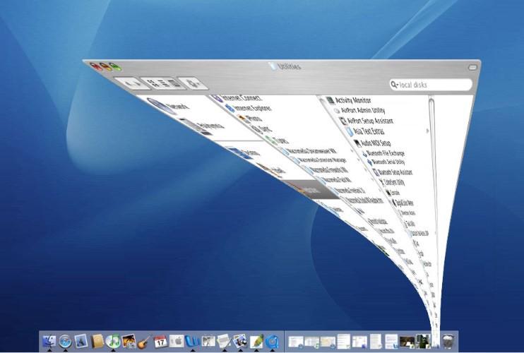 Mac OS ウィンドウを最小化する際のアニメーション