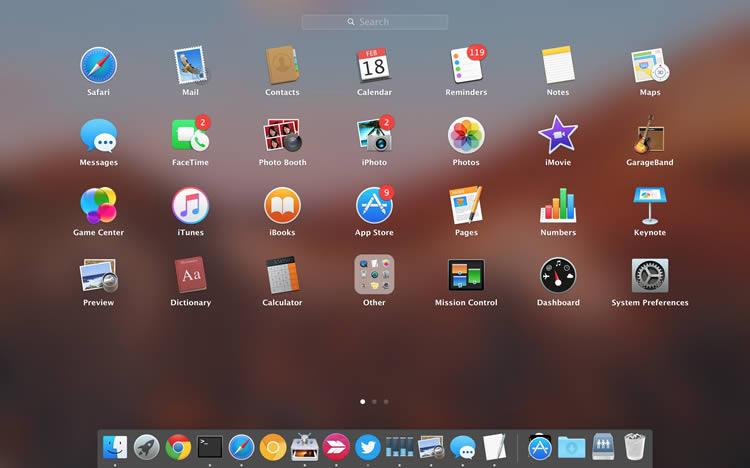 macOS Sierraのアプリケーション・ローンチャー