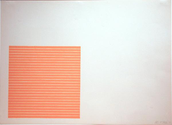 『パルメット農場 (Palmito Ranch)』 1971年 パルメット農場 (Palmito Ranch)は、Stellaの作品の中で最も人気の高い作品の1つです。真っ白な壁と石版印刷によるシンプルな線によって構成されています。
