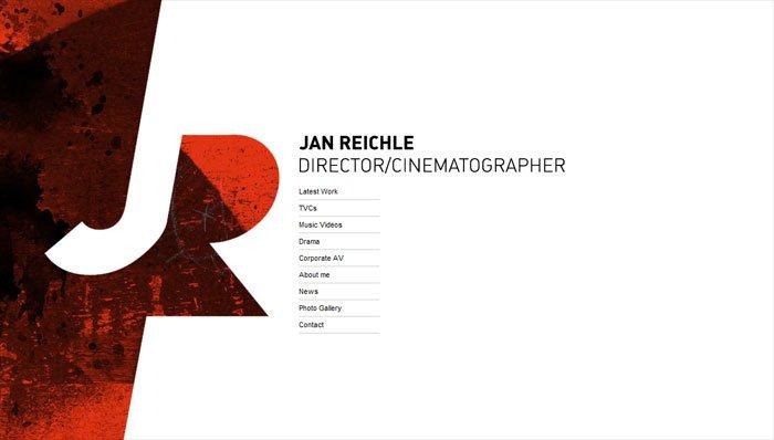 Jan Reichleのサイトのホーム画面