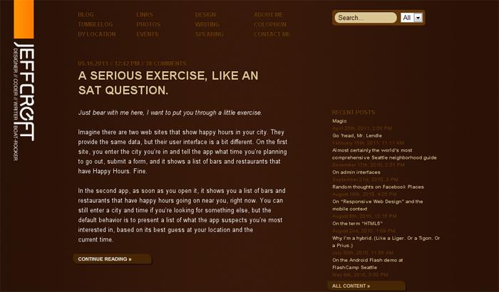 Jeff Croftホームページ