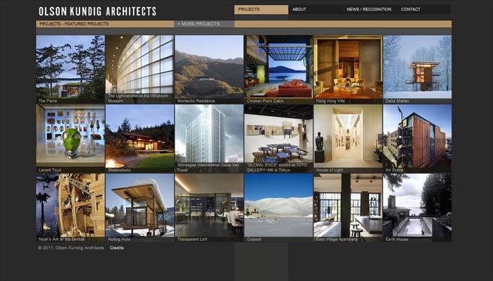 Olson Kundig Architectsの「プロジェクト」ページ