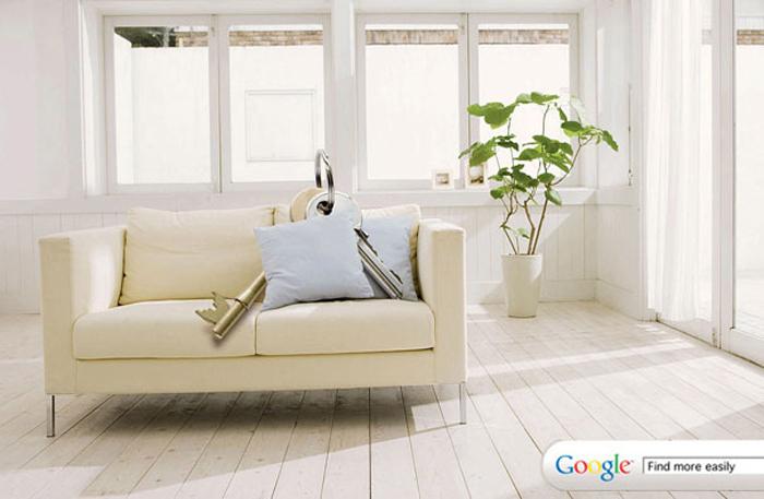 上のGoogleの広告は、2つの画像と伝えるべき重要なメッセージのみが表示されています。