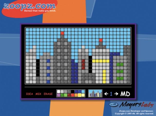 図5.7:Zoopz.comから提供される既存のモザイクデザインは、子どもたちが実験や自分の限界を試すことを可能にしています。