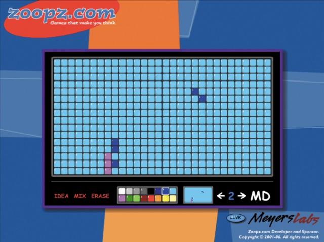 図5.8:Zoopz.comのモザイク画作成ツールによって、子どもたちは自分だけの素晴らしいデザインを作成することができます。