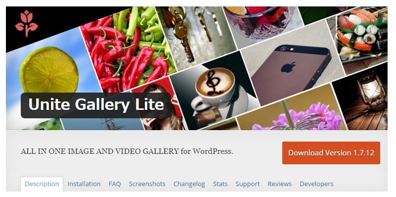 Unite Gallery Lite — WordPress Plugins