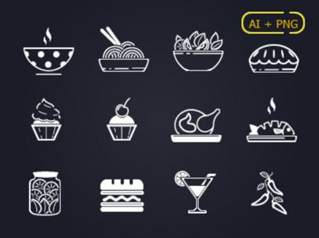 12 Food icons