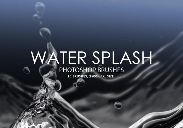 free-water-splash-photoshop-brushes
