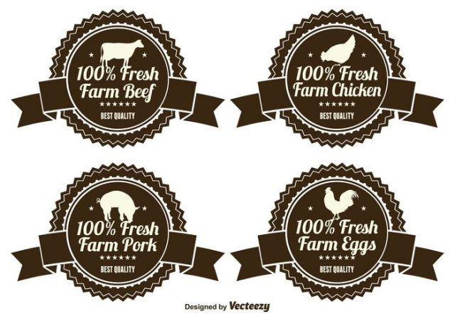 fresh-farm-product-labels-vector