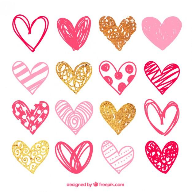 sketchy-pink-hearts-pack_23-2147531035