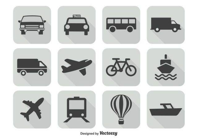 transportation-icon-set-vector