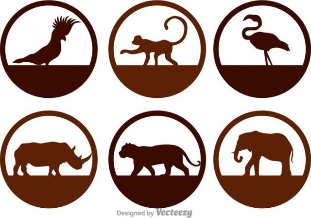 wild-animals-silhouette-icons-vector