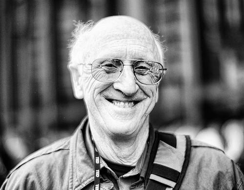 Stewart Brand氏。Whole Earth CatalogとLong Now Foundationの創設者です。