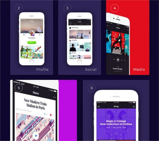 Avital Mobile UI Kit  download free ui kits by PixelBuddha - Google Chrome