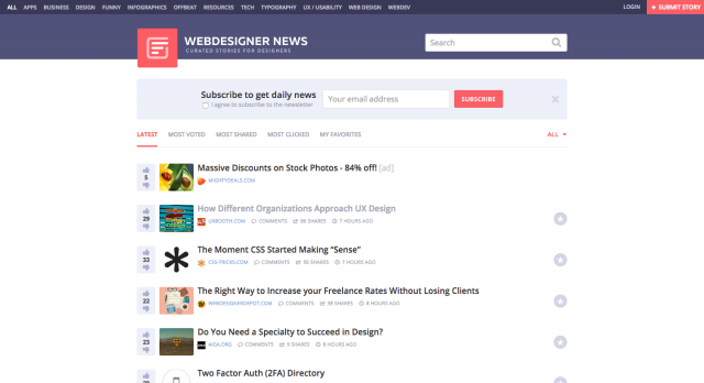 Web Designer News The best curated news for designers