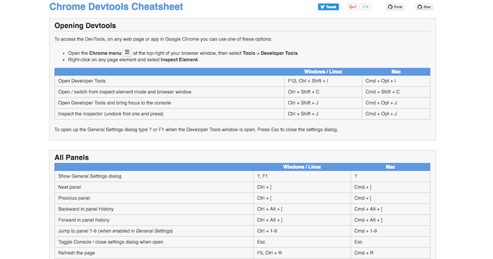 chrome-devtools-cheatsheet