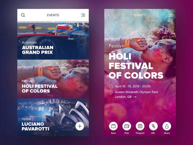 Horak氏がクリエイティブディレクターを務めたEventUSというiOSアプリ
