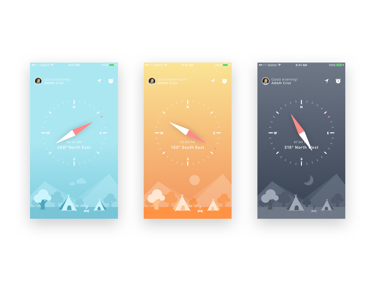 Compass UI and iphone wallpapers By Rahul Bhadauria