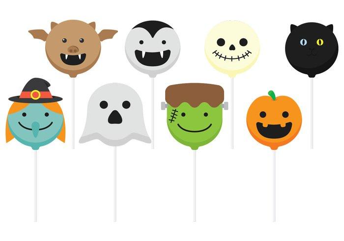 Ghost Cake Pops Halloween
