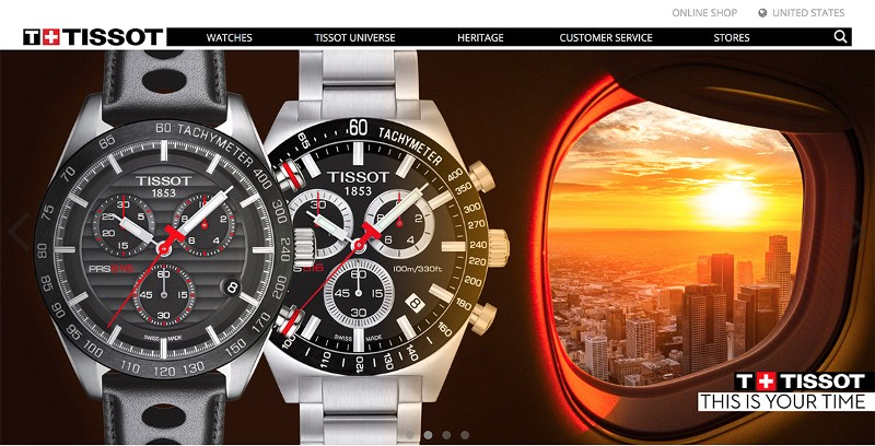 Don't. On the Tissot site, the arrows on the right and left of the carousel are easy enough to see and click when they appear in slides with light backgrounds, but are barely visible on slides that have dark backgrounds.