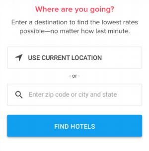 位置の自動検出は、「ホテルを探す」フォームの入力にかかるユーザーの時間を節約できます